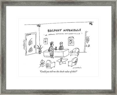Could You Tell Me The Shock Value Of This? Framed Print