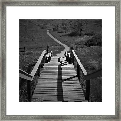 Coulee Stairs Framed Print by Donald S Hall