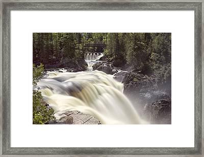 Coulonge Falls Framed Print by Eunice Gibb