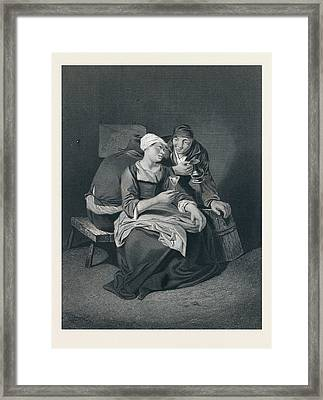 Coulpe, Wine Glass, Jug, Man, Woman, Barrel Framed Print by Bega, Cornelis Pietersz (1631/1632-1664), Dutch