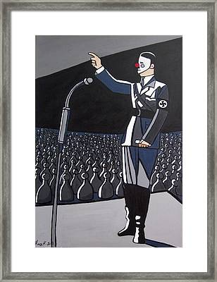 Coulrophobia Framed Print by Mary Kushilevich