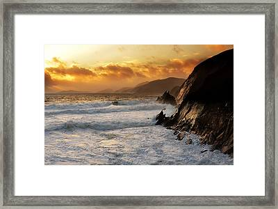 Coumeenole Framed Print