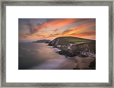 Coumeenole Sunset Framed Print