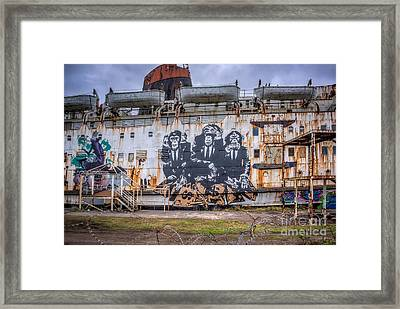 Council Of Monkeys Framed Print by Adrian Evans