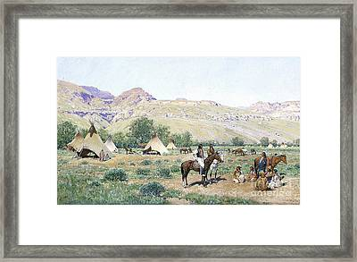 Council Of The Chiefs Framed Print by Celestial Images