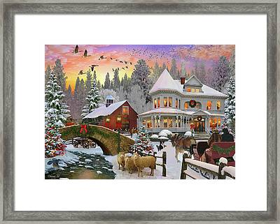 Framed Print featuring the drawing Counrty Christmas by David M ( Maclean )
