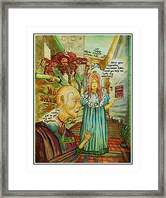 Counselor Eddie Smokes Framed Print