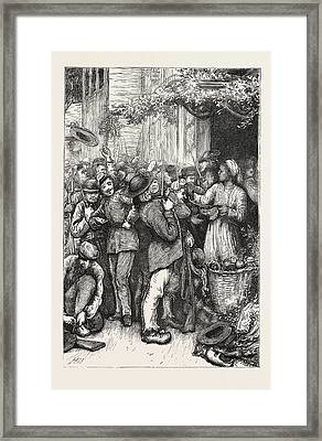 Count Keratrys Breton Army Trying On Uniforms At St Framed Print