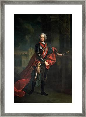 Count Leopold Joseph Von Daun 1705-66, Fieldmarshall And Austrian Commander-in-chief Framed Print by Austrian School