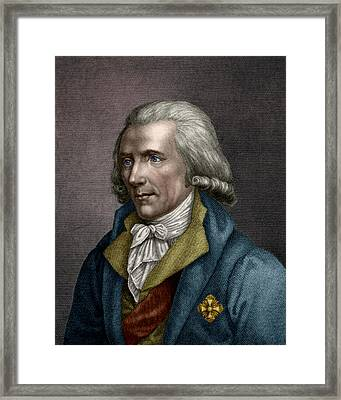 Count Rumford, Anglo-american Physicist Framed Print