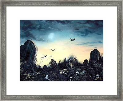 Count The Eyes Framed Print