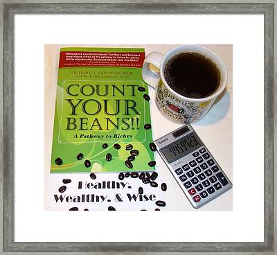 Count Your Beans Framed Print