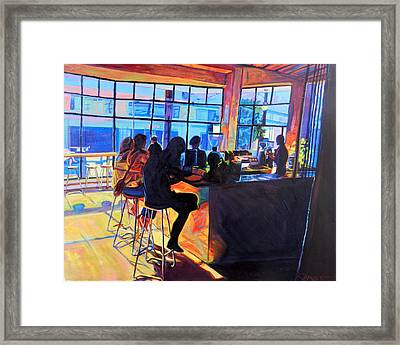 Counterpoint Framed Print by Bonnie Lambert