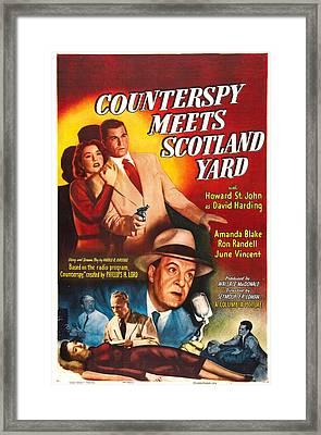 Counterspy Meets Scotland Yard, Us Framed Print by Everett