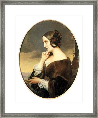 Countess Marie D'agoult (1805-1876) Framed Print