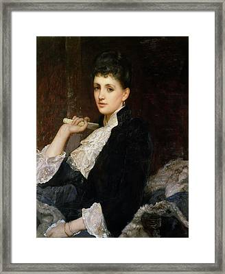 Countess Of Airlie Framed Print by Sir William Blake Richmond