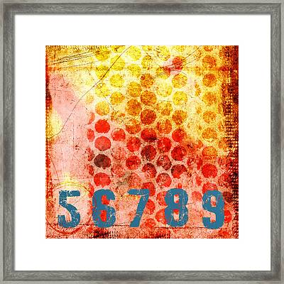 Counting Circles Framed Print by Carol Leigh