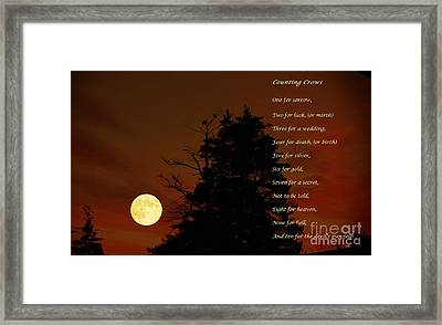 Counting Crows - Old Superstitious Nursery Rhyme Framed Print by Barbara Griffin