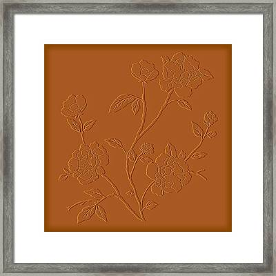 Counting Flowers On The Wall Framed Print by David Dehner