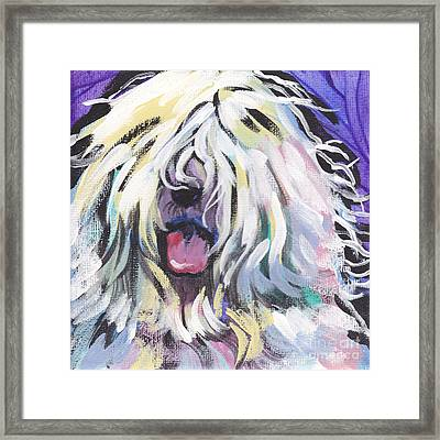 Counting Sheepie  Framed Print by Lea S