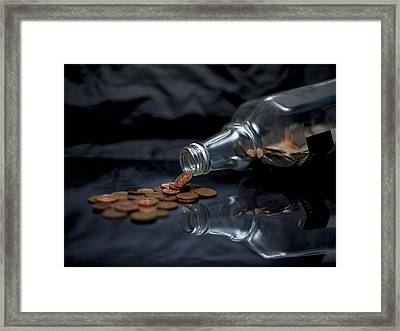 Counting The Pennies Framed Print