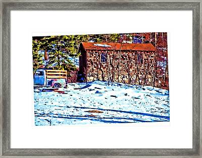 Country Abstract Framed Print