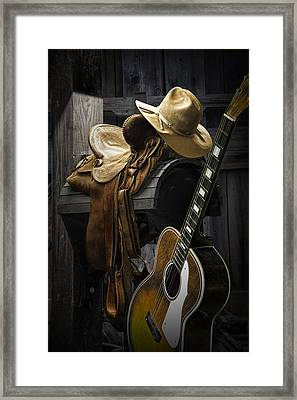 Country And Western Music Framed Print