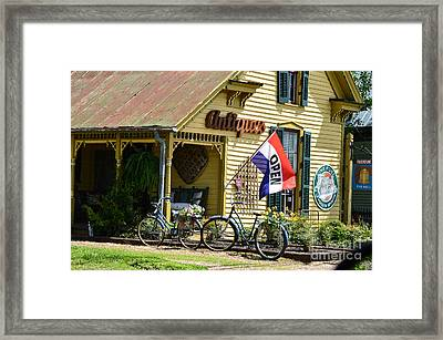 Country Antiques Framed Print by Julie Penney