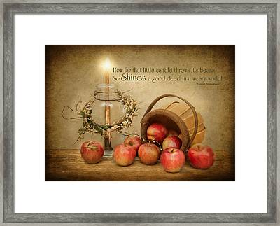 Country Apple Framed Print