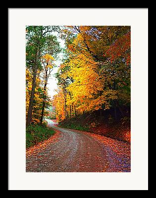 Indiana Autumn Scenes Photographs Framed Prints
