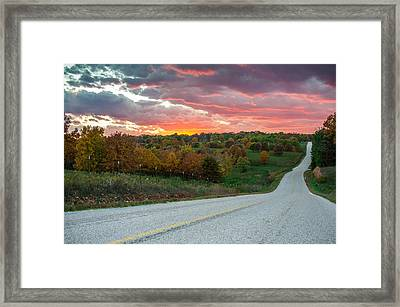 Framed Print featuring the photograph Country Back Roads - Northwest Arkansas by Gregory Ballos
