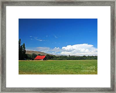 Country Barn Framed Print