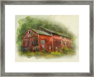 Framed Print featuring the photograph Country Barn by Kathleen Holley