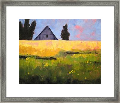 Country Barn Framed Print by Nancy Merkle