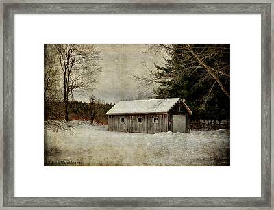 Country Barn Framed Print by Tricia Marchlik