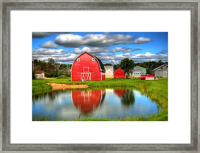 Country Barnyard Framed Print by Larry Trupp