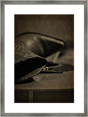 Country Boots And Guitar Framed Print by Dan Sproul