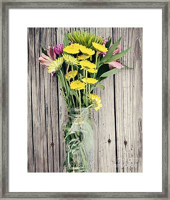 Country Bouquet Framed Print
