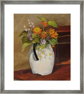Country Bouquet Framed Print by Vikki Bouffard