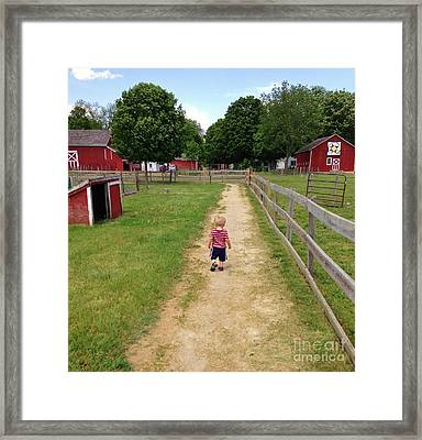 Country Boy Framed Print