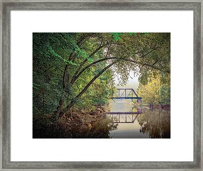 Country Bridge Framed Print by William Schmid