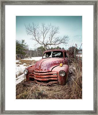Country Chevrolet - Old Rusty Abandoned Truck Framed Print