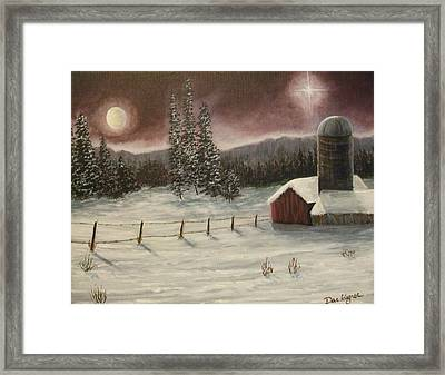 Framed Print featuring the painting Country Christmas by Dan Wagner