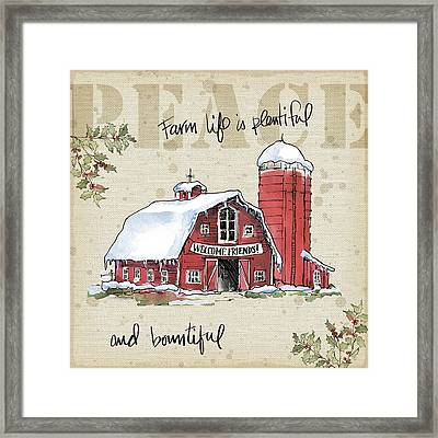 Country Christmas I Framed Print by Anne Tavoletti