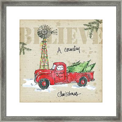 Country Christmas Iv Framed Print