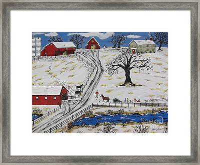 Country Christmas Tree Framed Print