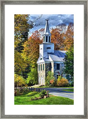Framed Print featuring the photograph Country Church by Barbara Manis