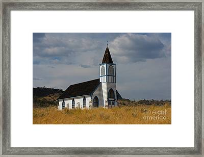 Country Church Framed Print by Birches Photography