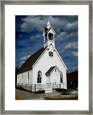 Country Church Framed Print by Claudette Bujold-Poirier
