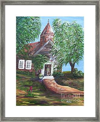 Framed Print featuring the painting Country Church by Eloise Schneider